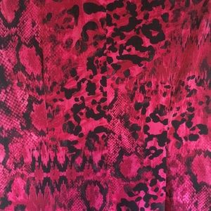 """Cache Dresses - """"Cache"""" pink and black animal print party dress"""